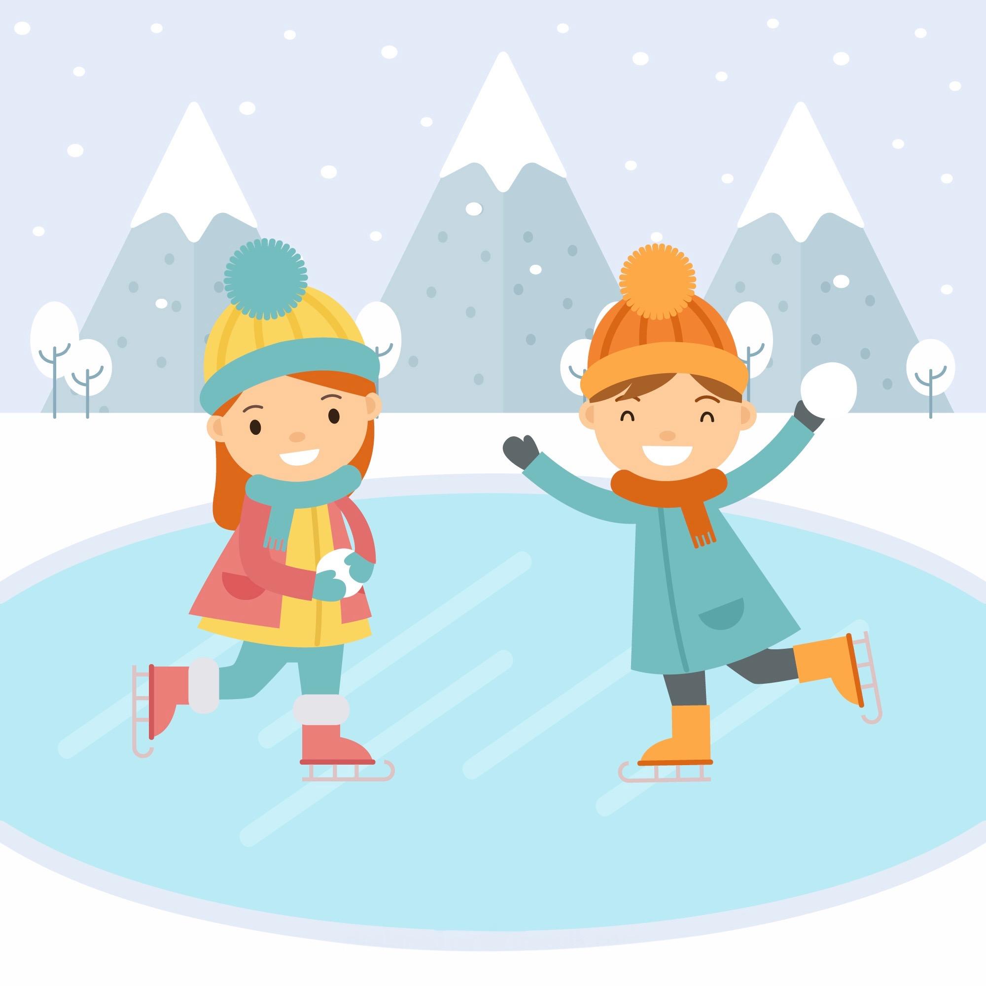 Картинки катание на коньках детские